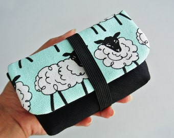 Moody Sheep Charger & Cable Storage, Cellphone Charger Holder, USB Cable Case, Traveller Gadget Organizer, Cable Holder - Made to Order