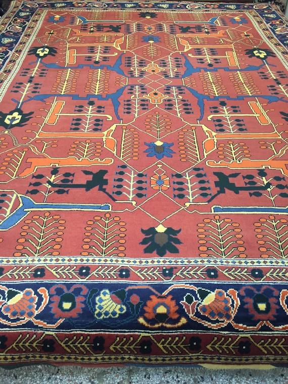"8'2"" x 10'7"" Pakistani Gharghaei Oriental Rug - Hand Made - 100% Wool Pile"