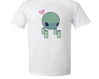 "Steven Universe - ""Flask Robonoid"" - Peridot Robot T-Shirt - Steven Universe T-Shirt - Flask Robonoid T-Shirt - Adult Size White T-Shirt"