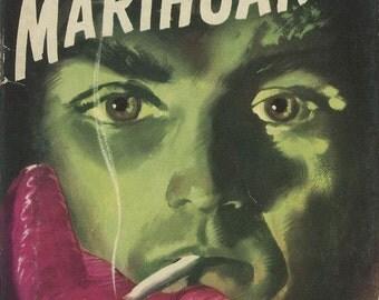 marijuana pulp art print Marihuana —  vintage pulp paperback cover repro