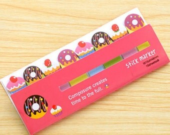 Cake & Doughnuts/Donuts Sticky Notes - Cute Kawaii Post-It Notes / Kawaii Stationery / Stationary / Cute School Supplies / Sticky Notes Tabs