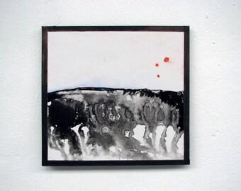 Contemporary art, original painting, nature painting, landscape, wall art, abstract painting, small Art, zen art,