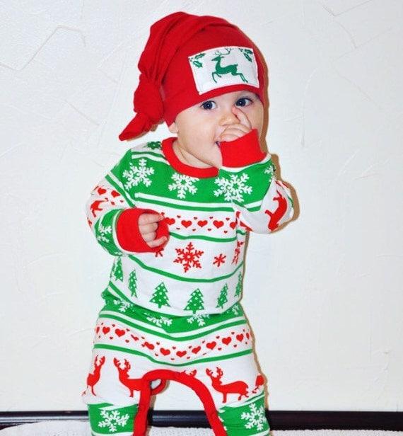 SALE Baby Girl Christmas Pajamas Baby Christmas Pjs Red and