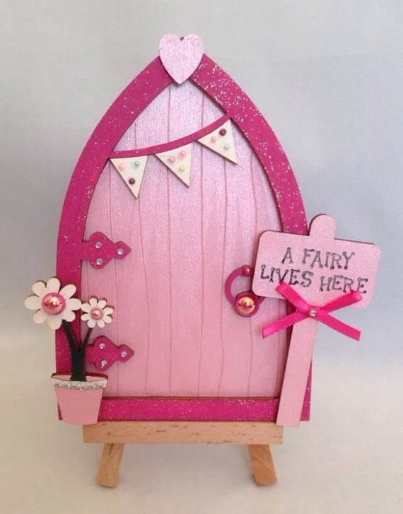 Magical hand painted pink fairy door for Pink fairy door