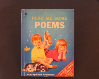 READ Me Some POEMS     vintage Rand McNally Start Right Elf book Marjorie Cooper 1968 VG