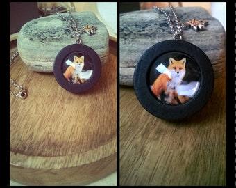 "Necklace ""Snow Fox"""
