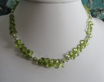 Peridot necklace and earring set   -   #466