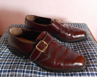 Vintage Buckle Monk Leather Shoes US Size 5.5 – 6. Already re-heeled and resoled.