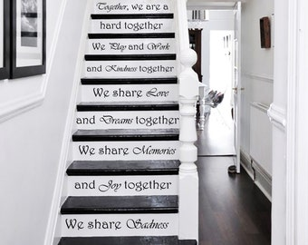 Stair Decals Quotes Stairway Decals Quote Vinyl Stickers