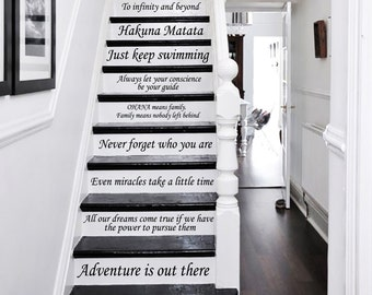 Stair Decals Disney Quotes Stairway Decals Quote 13 Steps Vinyl Stickers Lettering Family Home Decor Staircase