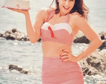 Vintage Style Skirted Bikini