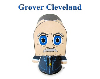 President Grover Cleveland Paper Toy Model w/Movable Parts