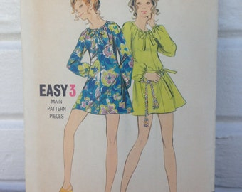 vintage Butterick pattern #5797, Easy 3, Young Junior/Teen Large mini dress RARE