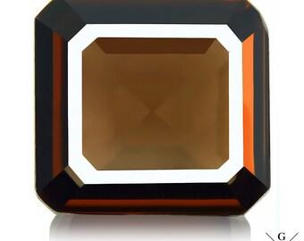 15.38ct Smoky Quartz loose. Flawless 100% natural Huge Сhocolate Smoky Quartz emerald cut Gemstone Crystal