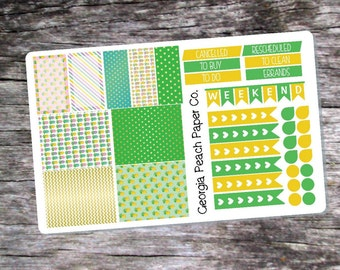 Pineapple Themed Planner Stickers - Made to fit Vertical Layout