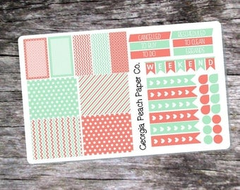 Mint and Coral Themed- Made to fit Vertical Layout