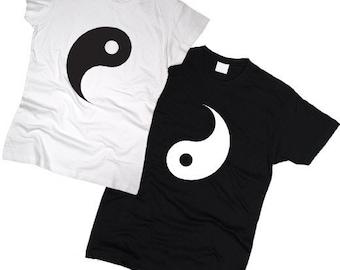 "Couple T-shirts set ""Ying Yang"" set of 2 couple T-shirts Ying Yang Tshirt set of 2 couple shirts 100% cotton BFF Best Friend Tshirts"