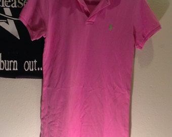 FINAL SALE Pink Polo Shirt Dress Ralph Lauren Sport