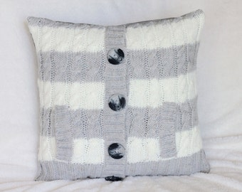 Cream Cable Knit Pillow Cover Cream Sweater Pillow Knit