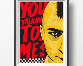 Alternative taxi driver you talkin to me travis quote poster classic film art home decor martin scorsese movie art