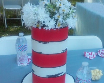Dr. Seuss Cat in the Hat table centerpiece