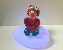 Pilot / fimo/clown/multicolor / figurine/night light baby/customizable/room child/gift birthday/Christmas/made gift idea hands