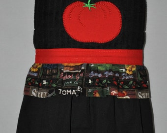 "Embroidered Dish Towel  ""Tomato"""