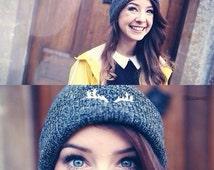 Deer Beanie Antlers Zoella Zoe Sugg Grey Beanies Hat Cap KYOU KYOUSTUFF