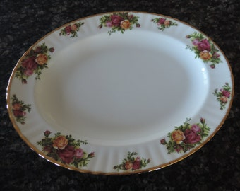 Royal Albert Old Country Roses Serving Platter 1962 Made in England