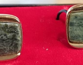 Men Vintage Marble  Cufflinks