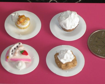 Miniature Desserts for Dollhouse, Room Box or Cafe Display (MD-1)