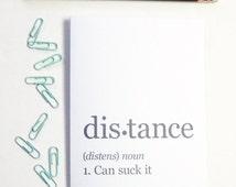 Boyfriend Gift, Long Distance Relationship, Distance Can Suck It, Long Distance Boyfriend Gift, Long Distance Friend, Best Friend Gift