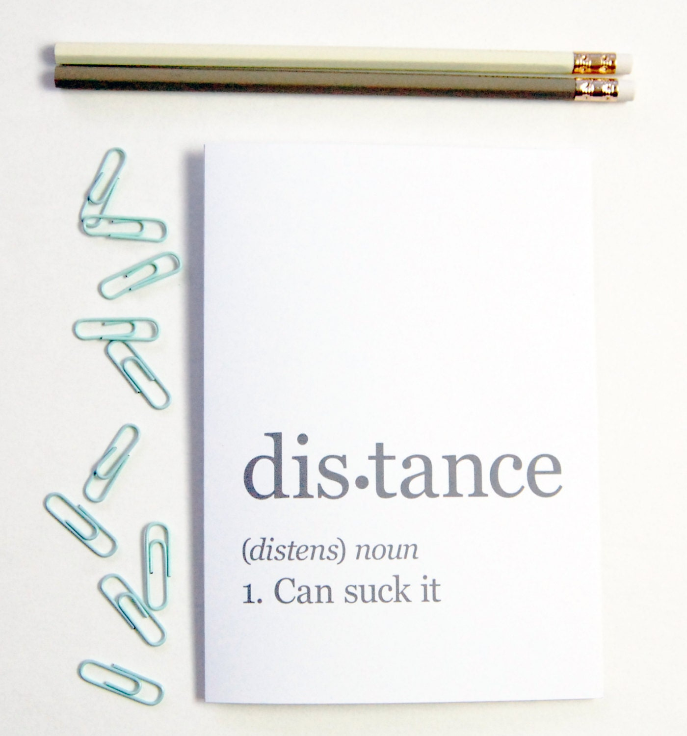 Distance Can Suck It Greeting Card Boyfriend Gift Long Relationship Ldr