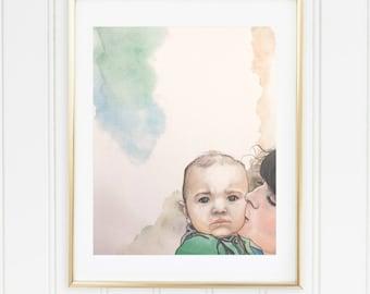 Custom Child / Family Portraits, Colorful, Unique, 8x10