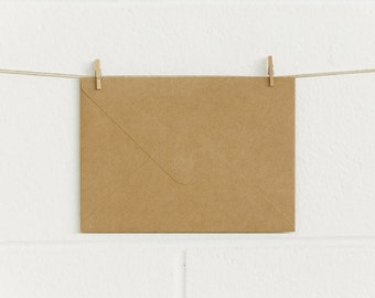 Envelopes 10pk, fits 5x7, 180 x 130mm, RT180 Natural Kraft