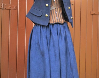 Navy Army SteamPunk Costume - Size S // 8 - 10 // Taille 36 - 38