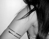 Silver 925 Upper Arm Cuff - Arm Band Simple chic minimalist Sterling silver 925