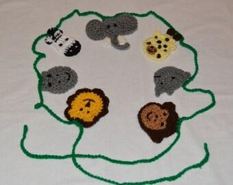 Crochet African Safari Animal Bunting