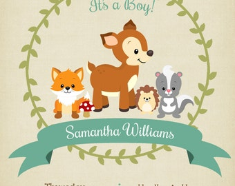 Baby Shower PRINTABLE  Invitation