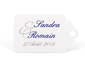 10 labels 2.4 x 4 cm, ampersand traditional, customized for your wedding candy