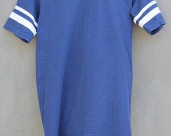 vintage navy and white athletic favorite v neck tshirt