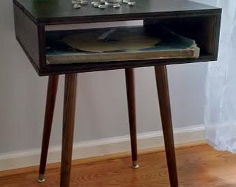 Mid Century Modern Bed Side Table End Table MCM Retro Vintage Style