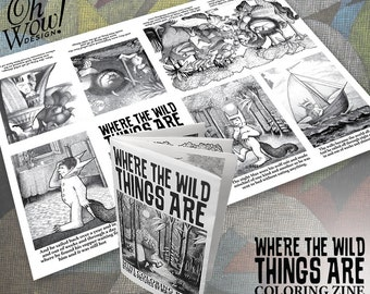 Where The Wild Things Themed Are Mini Book Zine