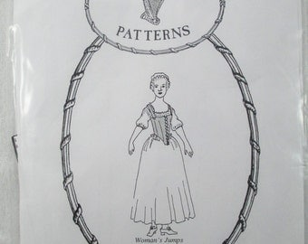 Mill Farm 18th Century Woman's Jumps or Leather Stays Pattern - Size 8 - Used