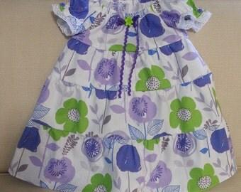 Girls Lavender and Purple Flower Dress