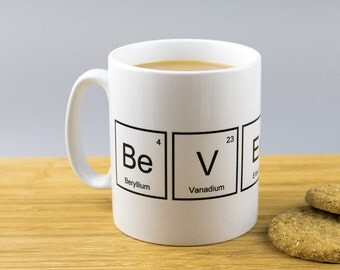 Periodic Table Beverage Mug // Back To School // Graduation // Science Gift