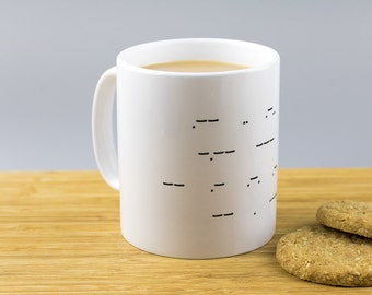 Secret Message Morse Code Mug // Personalised // Will You Marry Me //