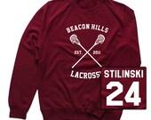 Stiles Stilinski Hoodie, Stiles Stilinski Sweatshirt, Beacon Hills Lacrosse Sweatshirt