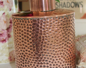 Vintage Arts and Crafts Copper Flask/Jar/Container by JS & S