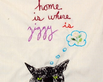 Customized embroidered pillowcase